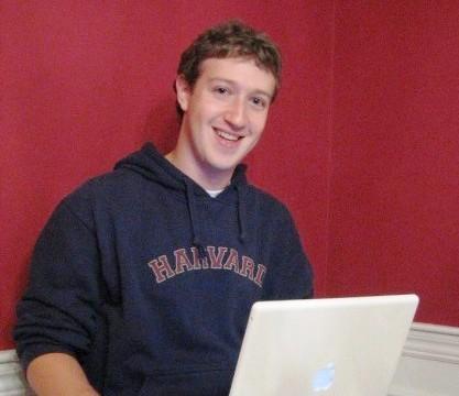 Facebookの創立者、ザッカーバーグ氏