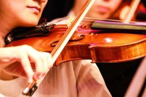 オーケストラのヴァイオリン奏者